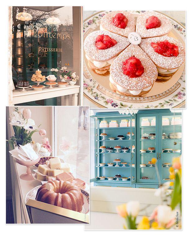 Une pâtisserie rétro : Bontemps, 57 rue de Bretagne, Paris 3ème. Ouvert du mercredi au vendredi de 11h à 19h, le samedi de 10h à 19h30 et le dimanche de 10h à 16h