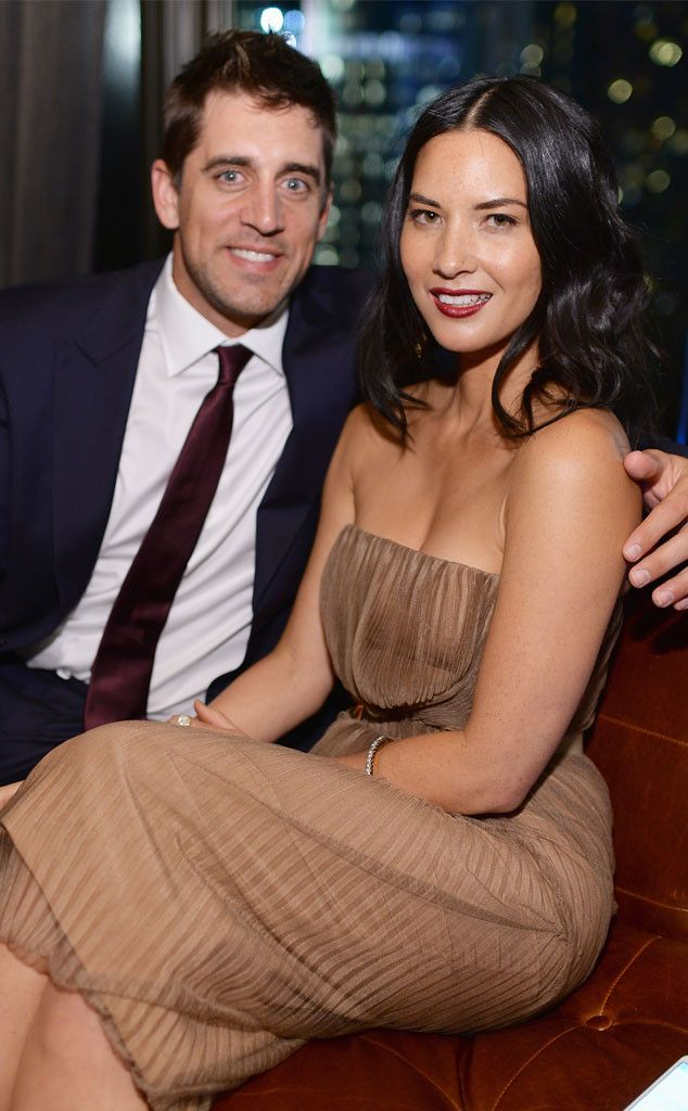 Aaron Rodgers Gives Olivia Munn a Special Ring!