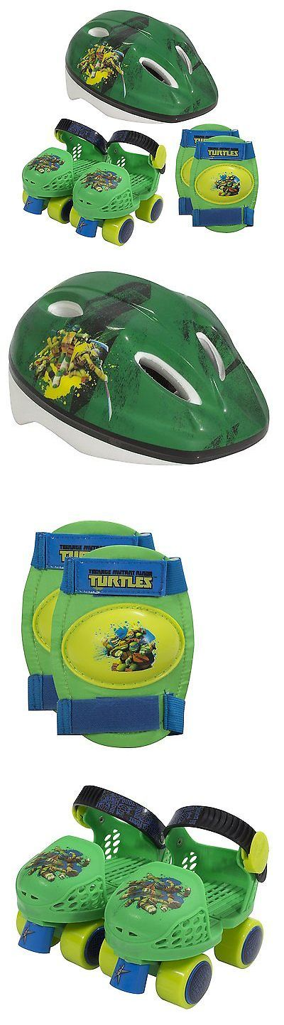 Youth 71156: Mutant Ninja Turtles Kids Roller Skates + Knee Pads And Helmet Junior Size 6-12 -> BUY IT NOW ONLY: $39.82 on eBay!