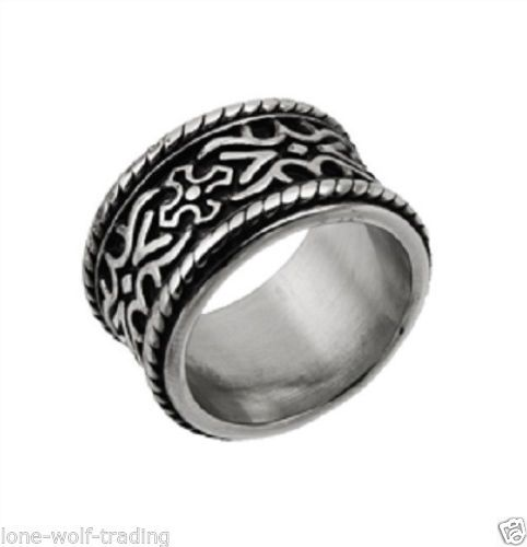 religious stainless steel band rings for men