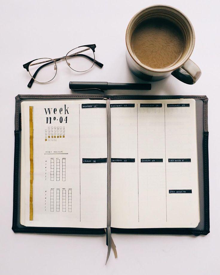 """Brett Wright auf Instagram: """"Neue Woche, neue Ausgabe des Bullet Journals. Ich bin nur ein bisschen in Panik, dass es Ende Oktober ist. Die Ferien sind ungefähr …"""