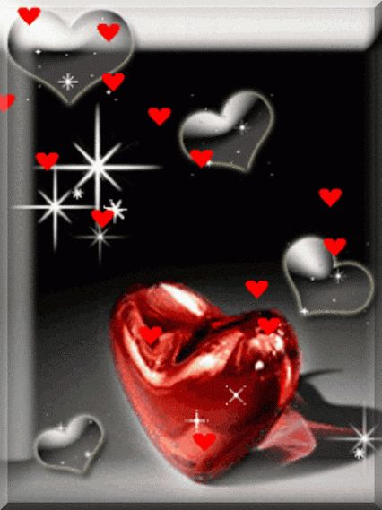 Red Sparkles and Hearts
