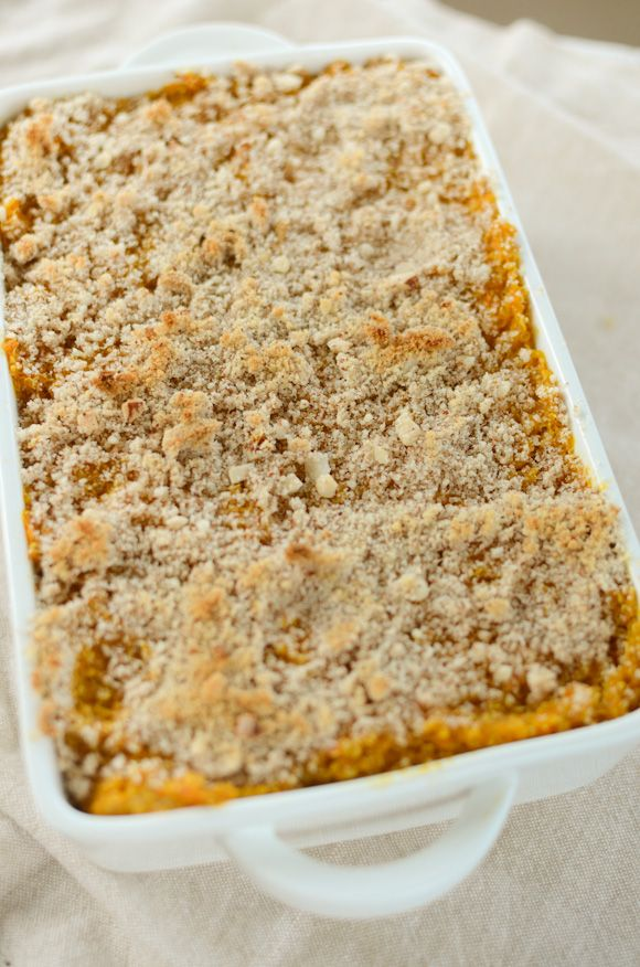 Carrot-Quinoa Casserole 1kg carrots (sweet, organic)(or sweet potato) 1 cup quinoa** 1/4 teaspoon white pepper 1/2 teaspoon ground ginger freshly grated nutmeg pinch of sea salt 3-4 tablespoons almond meal