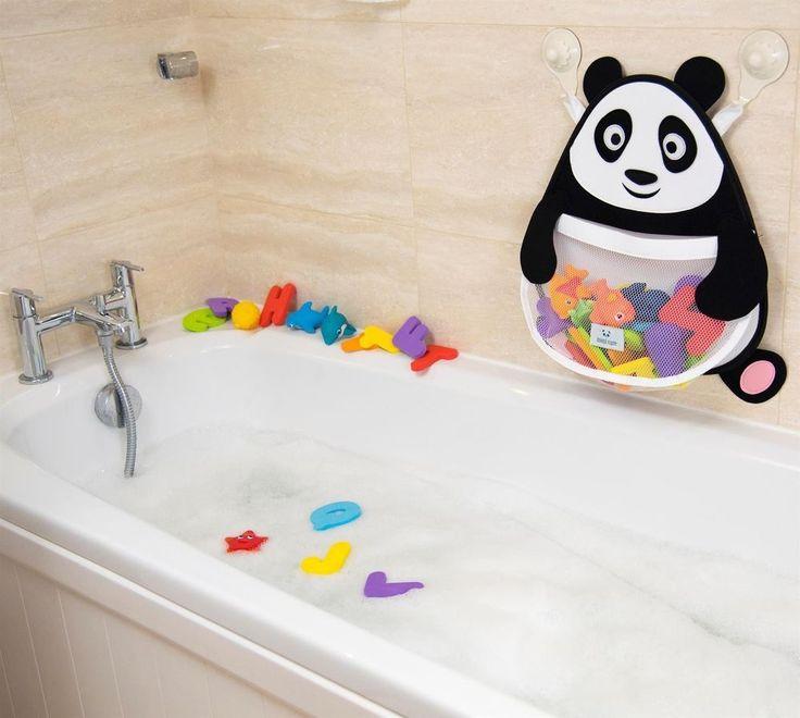 Bath Toy Storage Organiser Fat Panda Bathroom Toys Mesh Basket Suction Cups Kids