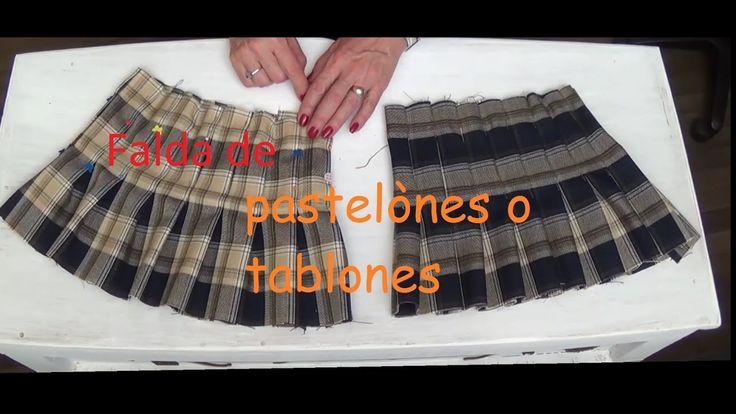 Falda de tablones o pastelones 1ª parte Clase # 64