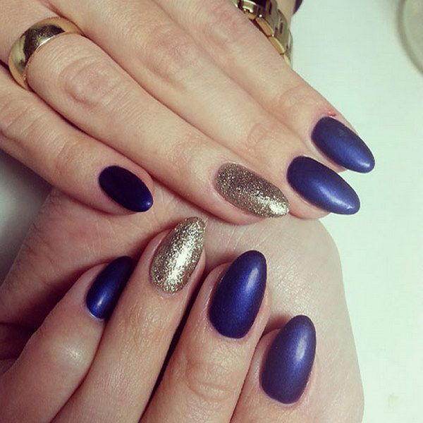 Almond Nail Designs With Glitter ~ Nails on acrylic natural and long