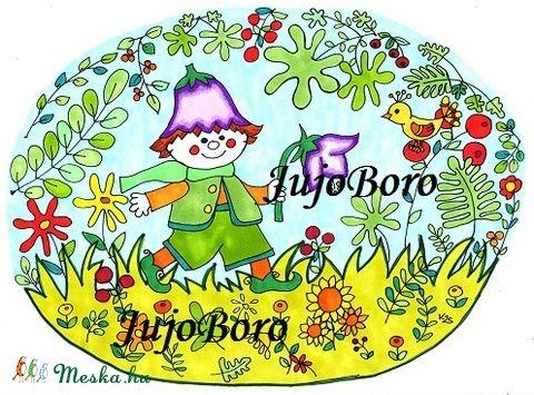 Manó harangvirággal (JujoBoro) - Meska.hu