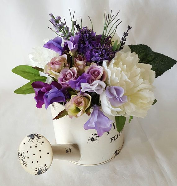 Mothers Day Flowers Watering Can with by UnrealWeddingFlowers