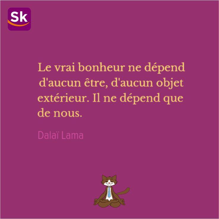 Happy monday 9 ! Citation du jour sur le bonheur du Dalaï Lama #quote