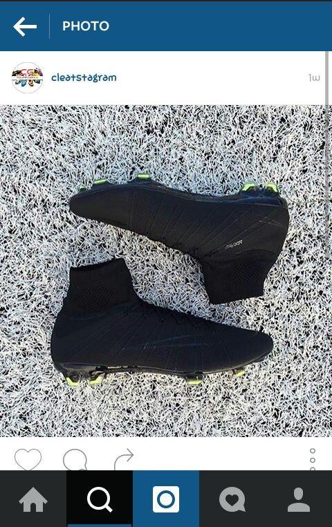 All black hightop cleats #goals#black