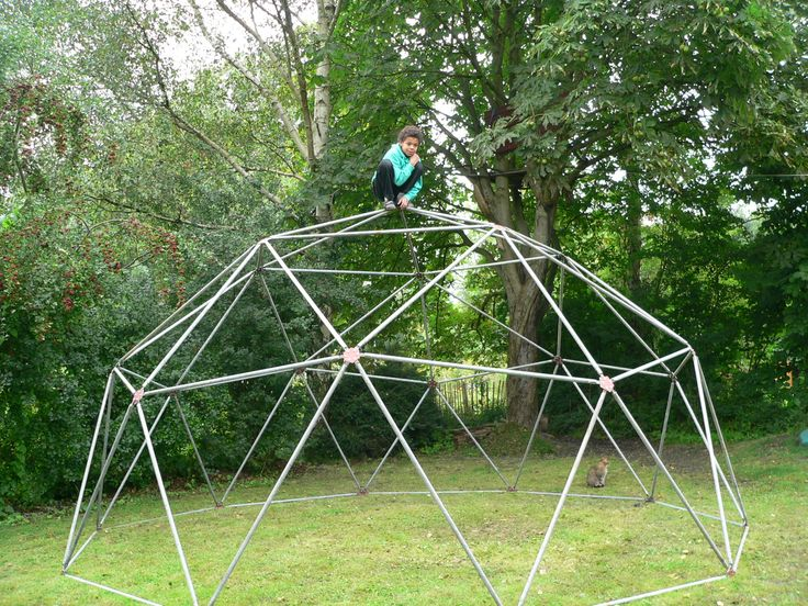 geodesic dome with boy