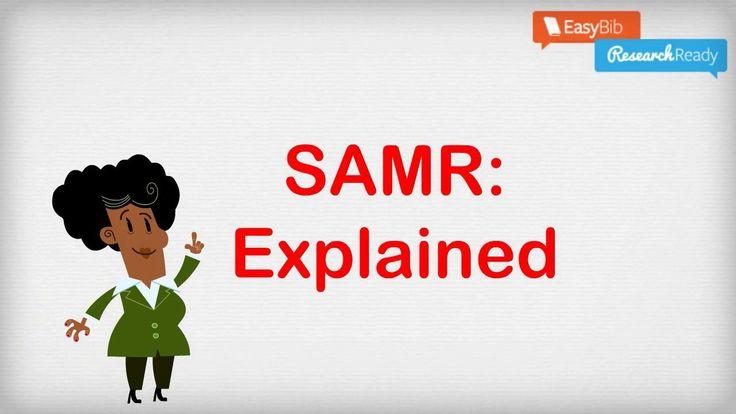 SAMR Model: Explained - Kathy does a nice job explaining and utilizing SAMR