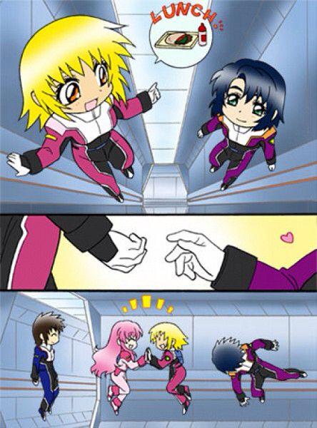Gundam SEED haha poor Athrun Zala