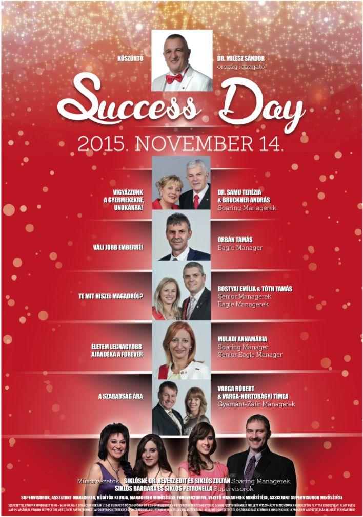 November 14-én Siker Nap a Syma csarnokban! Fantasztikus előadók és előadások! Gyertek!  Mindenkit szeretettel várunk!