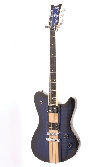 Used Schecter Guitar Research Dan Donegan Ultra Signature Electric Guitar See Thru Blue 889406693609