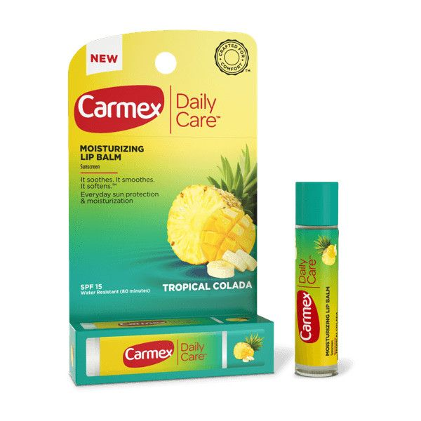 Carmex Daily Care Tropical Colada Lip Balm with SPF | Carmex ❤ liked on Polyvore featuring beauty products, skincare, lip care, lip treatments, carmex and carmex lip care