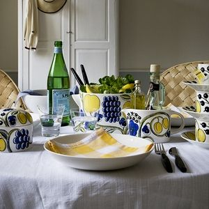 iittala Arabia Paratiisi (Paradise) screams summer with a fruit and floral motif in shades of fresh lemon and blueberry. 20% through April 1st at FinnStyle.