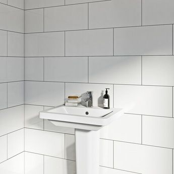 Pure white gloss tile 248mm x 498mm
