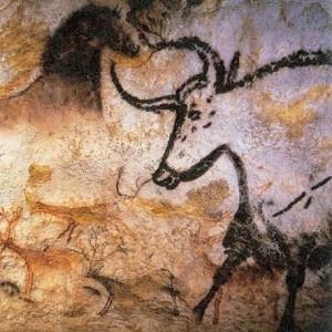 Esihistoriallisen ajan taide - luolamaalaus (taustaa).