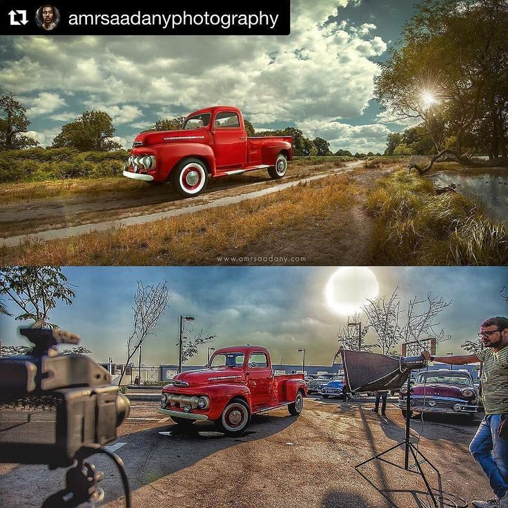 Behind the scenes by @amrsaadanyphotography :  Throw Back. Shooting 1952 Ford Pickup Truck.  Truck was shot in #Egypt Background was made from 3-4 different photos shot in #richmond park UK.  Shot on @phaseonephoto  #xf with 45mm lens at around f16. . .  #ford #pickup #truck #classic #cars #countryside #commercialphotography #advertisingphotography #automotive #elinchrom #phaseone #iso1200  #famousbtsmag #compositing #imagemanipulation #production #landscape #classics #potd #fstoppers