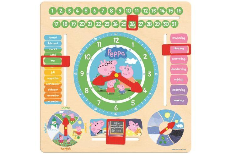 Peppa Kalenderklok van Jumbo  De maanden, seizoenen, de tijd, de dagen leren vinden veel kleine kinderen lastig. Met de Peppa Pig Kalenderklok leert je kind al deze dingen op een leuke manier!  #peppa #jumbo #kindercadeau