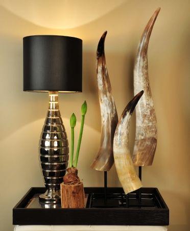 Hoornen + lamp Hilton