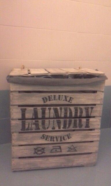 Cesta Laundry con riciclo cassette frutta