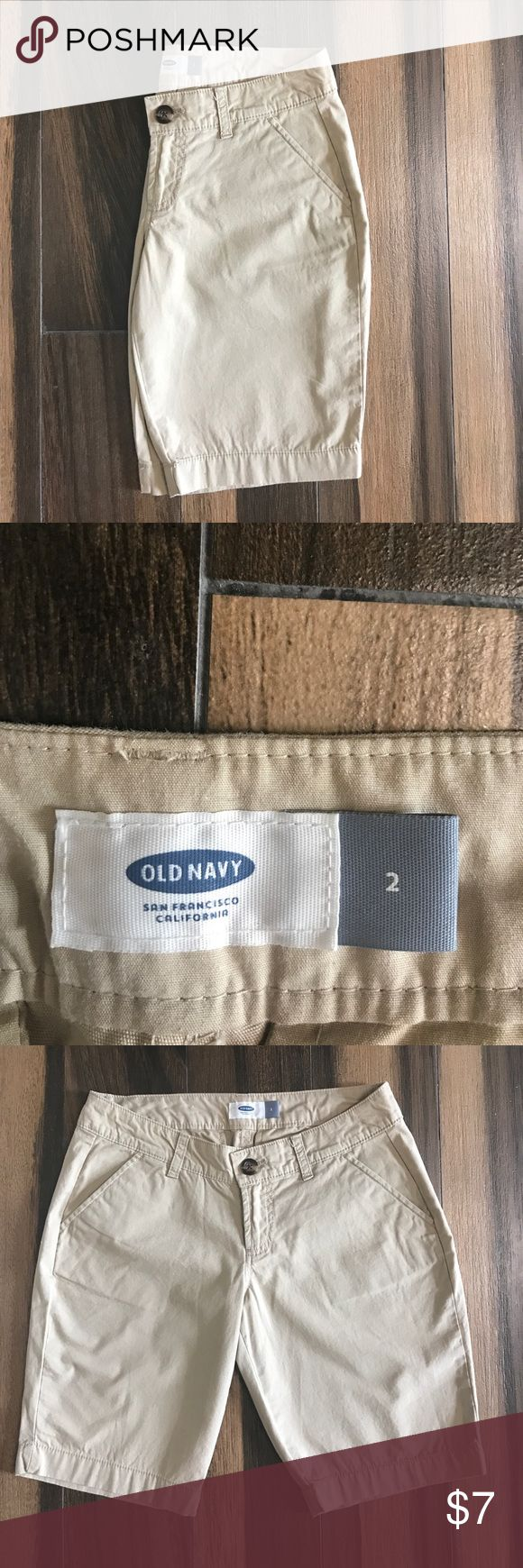 Old Navy uniform shorts. Perfect like new. Sz 2 Old Navy uniform khaki shorts. Like new condition. Size 2. No thread out of place! Old Navy Shorts