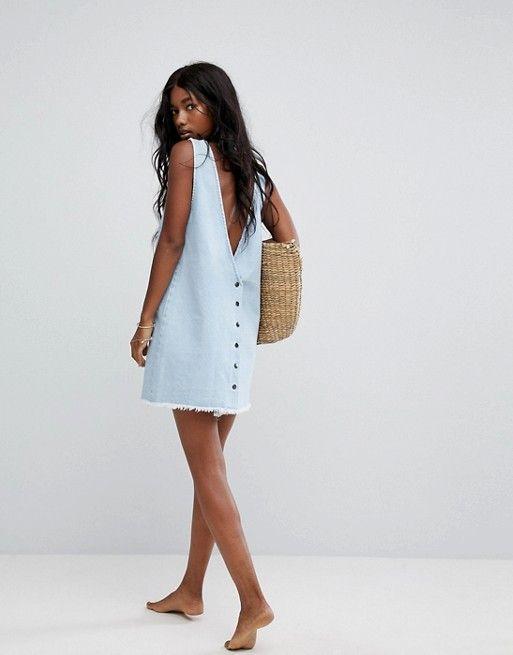 Zulu and Zephyr | Пляжное джинсовое платье мини Zulu & Zephyr