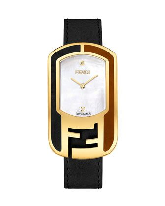 3202d11ffda Fendi+Leather+Buckle+Watch+with+Diamonds+by+Fendi+at+Neiman+Marcus ...