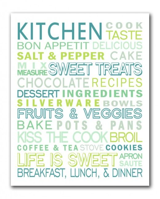 I'm loving this FREE kitchen subway art printable! Her archives are full of fun free printables.