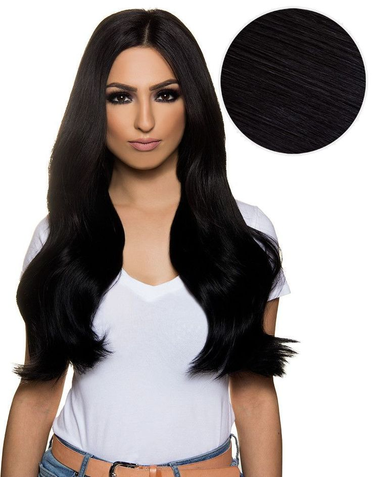 Bambina 160g 20'' Jet Black Hair Extensions (#1)