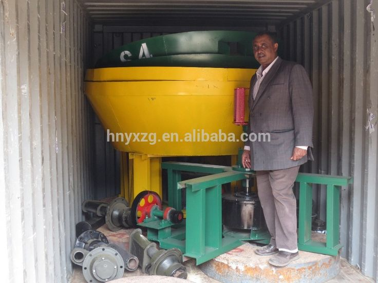 Process gold ore wet pan mill for edge mill grinding machine