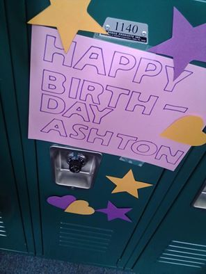 My friend surprised me on my birthday by decorating my locker before I got to school in the morning. Little things like this can really make someone happy!