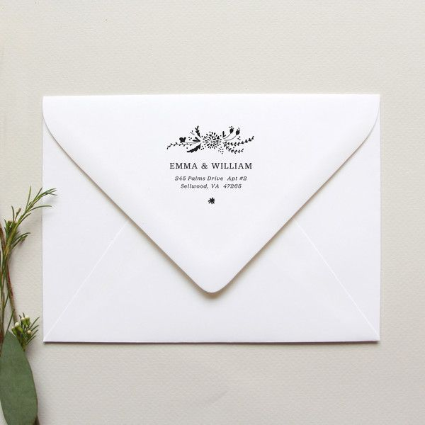 33 best wedding invitations stationery images on for Return address envelopes for wedding invitations