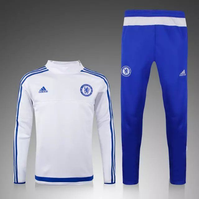 survetement de foot fc chelsea blanc 2015 2016 maillot. Black Bedroom Furniture Sets. Home Design Ideas