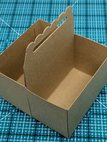 How to use the Scalloped Treat Box to make a double box tote to hold holiday candies!