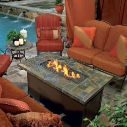 largo chat fire pit table love that its surrounded by comfy outdoor furniture