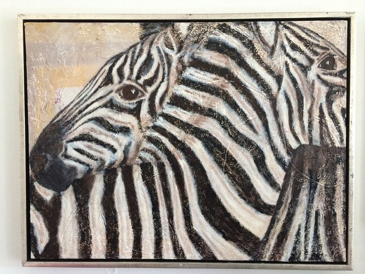 Zebra painting by Manley