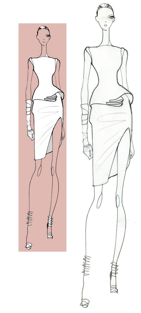 Jaa design original fashion illustration.