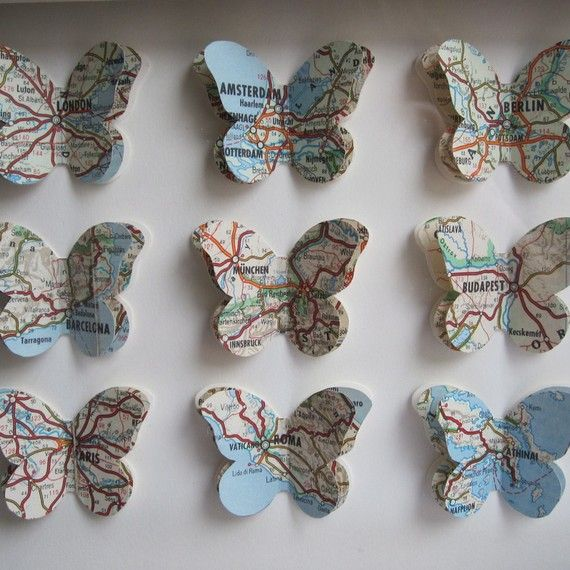 map butterflies