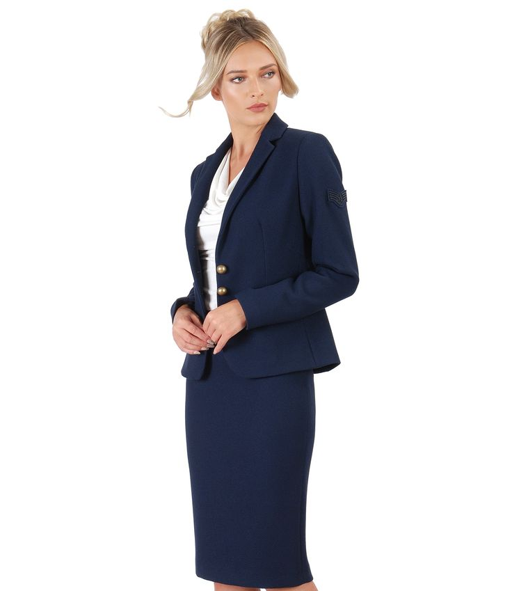 Navy blue, i love you! #officeoutfit #jacket #skirt #navystyle #women #beauty #office #fashion #fall17 #yokko #madeinromania