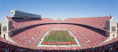 """""""This is the most beautiful sight these eyes have ever seen.""""    Take in all the sights at Ohio Stadium this fall! Get Ohio State tickets at http://www.usaseats.com/"""