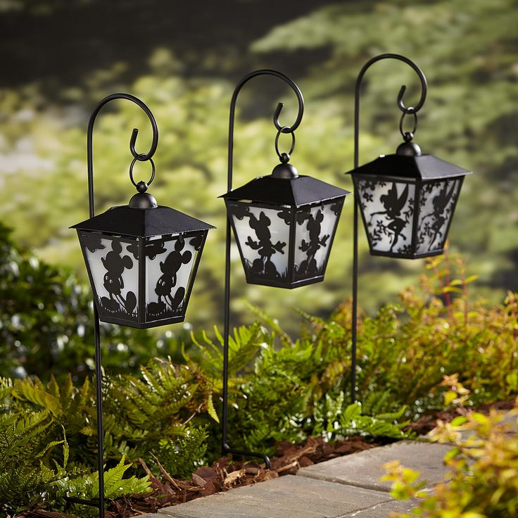 Disney Lanterns With Shepherdu0027s Hook Provides A Unique Pathway Light For  Your Lawn Or Garden.