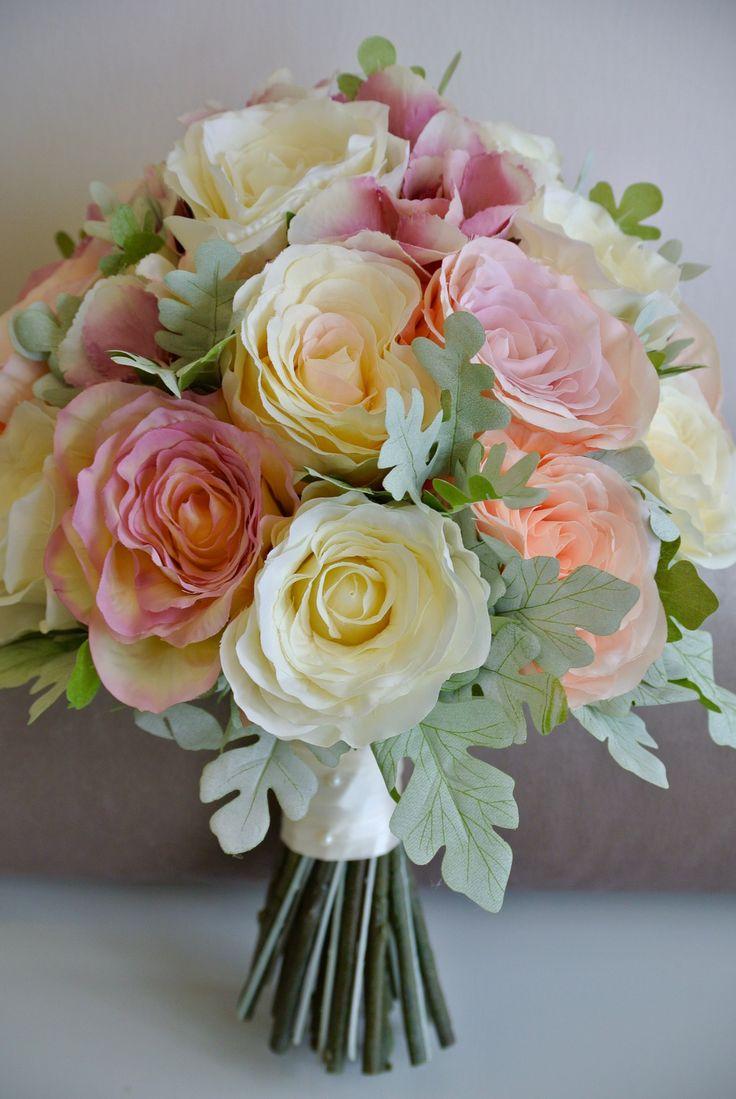 Silk Artificial Brides Bouquet For Sale Devon UK
