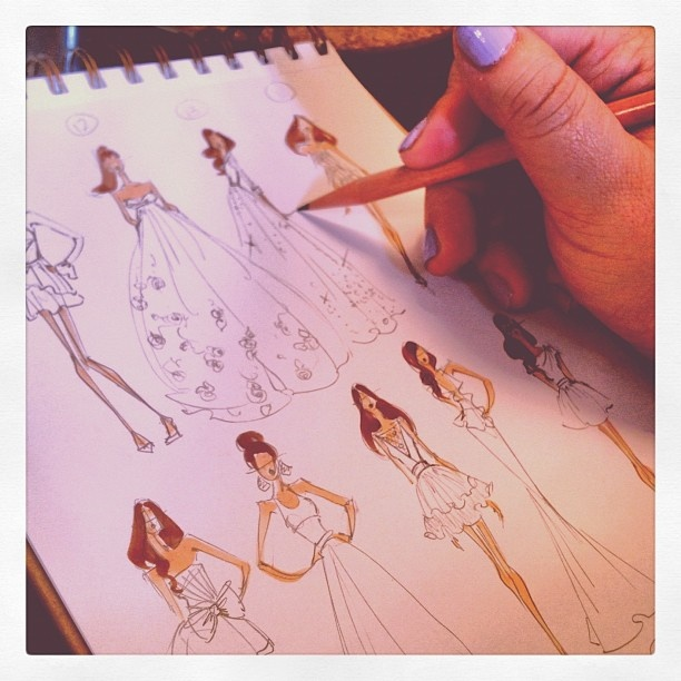 Rough sketches for a client,  Instagram images by @Brooke Baird Baird Baird Hagel