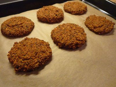 Mixed bean burger in the oven