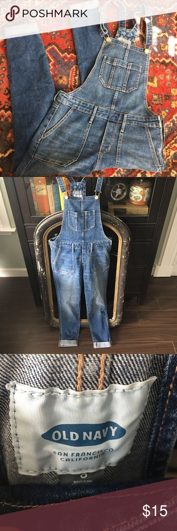 Old Navy overalls Great pair of denim overalls. Great for bebopping around in 😉 Old Navy Jeans Overalls