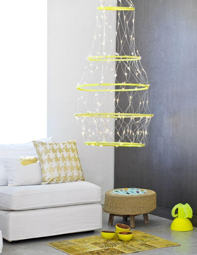 DIY XL christmas light - XL-kroonluchter kerst www.101woonideeen.nl