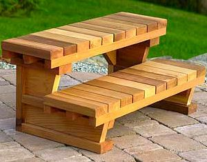 Beautiful steps for a hot tub